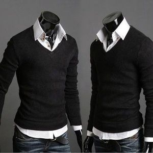 Other - Men's Casual Slim Fit V Neck Pullover Sweaters